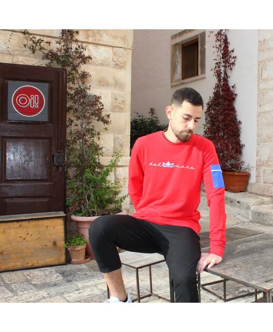 Felpa Girocollo Unisex - Rossa