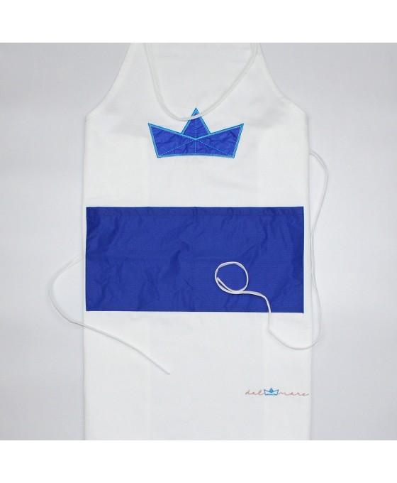 Grembiule - Bianco/Blu
