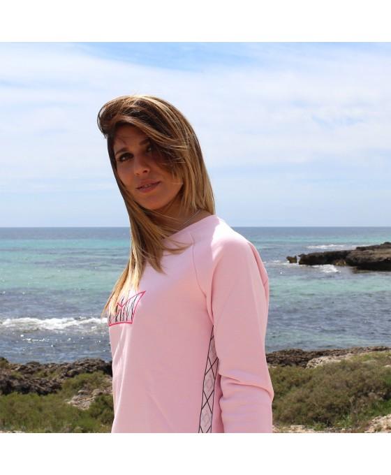 Felpa Girocollo Donna - Rosa