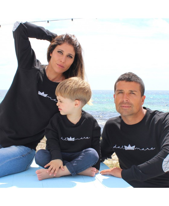 Family Tris Felpa - Nero