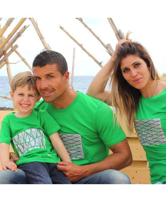 Family Tris T-shirt - Verde