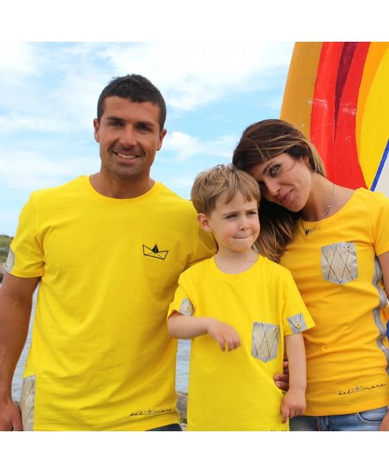Family Tris T-shirt - Giallo