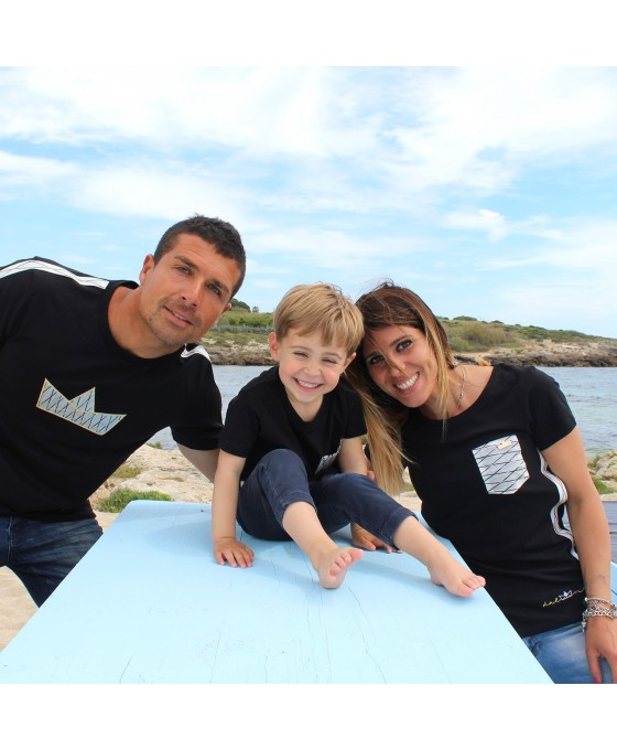 Family Tris T-shirt - Nero