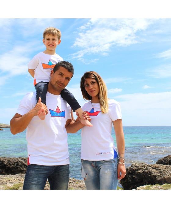 Family Tris T-shirt - Bianco